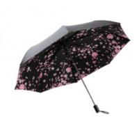 Quality Strong Windproof Lightweight Folding Umbrella Black Color Offer UV Protection for sale