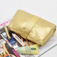 Quality PVC Gold Travel Cosmetic Bags , Folding Cosmetic Bag For Traveling for sale