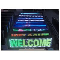 Quality 7 Color Scrolling Outdoor Programmable LED Sign 1R1G1B with Aluminium Alloy Steel Cabinet for sale