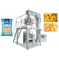 Quality Potato Chips Multihead Weigher Packing Machine 80 - 200MM Bag Width for sale