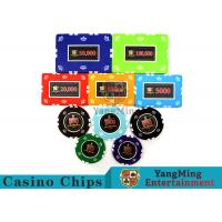 Quality Circular / Square Shape Professional Poker Chip SetWith 25 Pcs In A Shrink Roll for sale