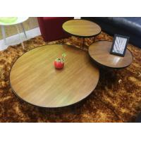 Buy cheap Tea Hobby Lobby Modern Wood Coffee Table Round High Density Walnut Color from wholesalers