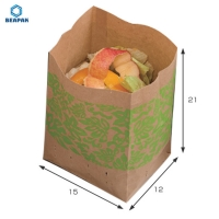 China Biodegradable Take Away 150gsm Fast Food Brown Paper Bags on sale