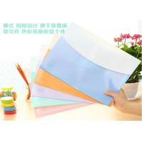 Buy cheap Waterproof PVC A4 Plastic Folders , Transparent Sleeves For Documents from wholesalers
