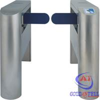 Quality Customized Size Half Height Rustproof Swing Gate Barrier With Card Reader for sale