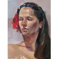 Quality portrait painting wall art painting lady design for sale