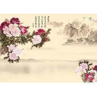 Quality 9Mm Thickness Advanced Technology Bamboo Wood Boards Peony And Poems Landscape for sale