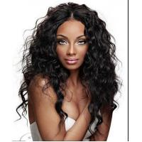 Quality Brazilian Curly Swiss Curly Human Hair Wigs With Baby Hair Natural Black for sale