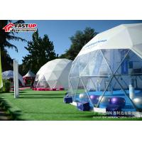 Quality Transparent 6 Meters Geodetic Dome Tents for Outdoor Activities for sale
