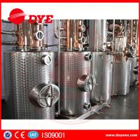 Buy Automatic Vodka Gin Copper Distilling Equipment System Column at wholesale prices