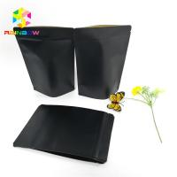 Quality Black Kraft Paper Printing Customized Paper Bags Food Grade Laminated Self Stand Pouch for sale