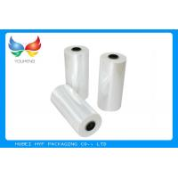 China 78% Shrinkage 40MIC Clear Plastic Shrink Film For Shrink Sleeve Labels Material on sale