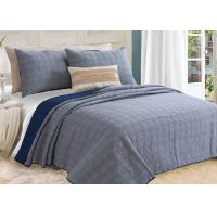 Quality Washed Solid Geometric Bedspreads And Coverlets 3Pcs 100% Cotton For Home for sale