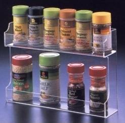 Quality Fashion Shape Acrylic Spice Rack With customer's Logo for sale