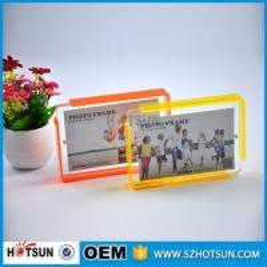 Quality Custom design 4*6cm Cute acrylic photo frame / cheap picture frames in bulk for sale