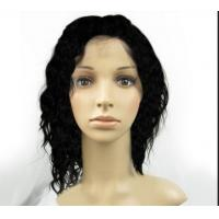 Quality Brown Natural Human Hair Wigs With Bangs , Short Curly Human Hair Wigs for sale