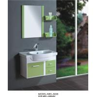Buy cheap hanging cabinet / PVC bathroom vanity / wall cabinet / red color for house 80 from wholesalers