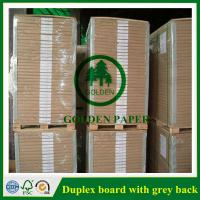 Buy cheap 180gsm-450gsm Duplex board with grey back and white back in roll and sheet from wholesalers