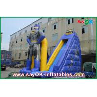 Quality Kids Giant Commercial Inflatable Superman Bouncer Slide 8m Height With Print for sale