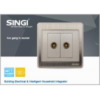 Quality 2 Gang TV Socket Mounting Coaxial Outlet Wall Plate wall switch for sale