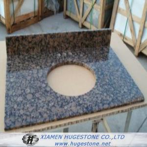 Quality Dark Brown Granite Sink Countertops, Granite Countertops with built in Sinks for sale