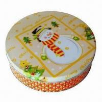 Quality Gift Tin Box, Measures Ø230x58mm for sale