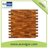 Quality Mosaic wood wall tiles for indoor decoration for sale