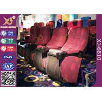 Quality Mesh Fabric Upholstered Foldable Assembly Hall Chairs With Leatherette Headrest Row Number for sale