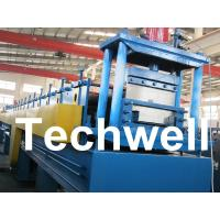 Quality 18 Forming Stations Top Hat Purlin Roll Forming Machine With Manual / Hydraulic Uncoiler for sale