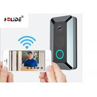 Quality 18650 Li Battery Wireless Video Doorbell System 140 Degree Wide Angle HD 720P for sale