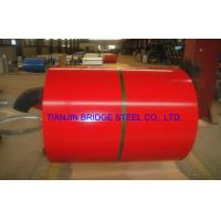 Buy Dip-Cold PPGI Coil For Construction , Color Coated Prepainted Galvanized Steel Coil at wholesale prices