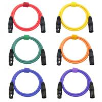 Quality XLR Microphone Cables Cords Male to Female Color Cables-6.5Feet/2Meters Balanced Snake Cord for sale
