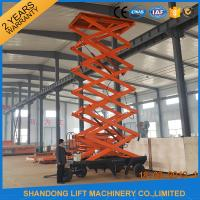 Buy Outdoor Mobile Scissor Lift Platform , Aerial Working Lift Tables with Wheels at wholesale prices