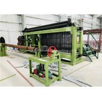 Quality Fully Automatic Wire Coiling Machine , 100x120mm Gabion Mesh Machine PLC Control Simple Install for sale