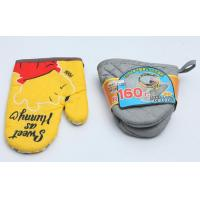 Quality Colorful Fireproof Oven Mitts , High Temp Oven Mitts Thickened Plain Design for sale