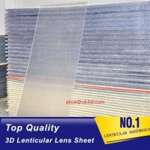 Quality 3d lenticular images material 20 LPI flip lenticular effect thickness 3 mm designed for flip effect on digital printer for sale