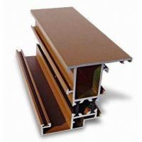 Quality Mill Finish Aluminum Curtain Wall Profile Bronze / Black Energy Saving for sale
