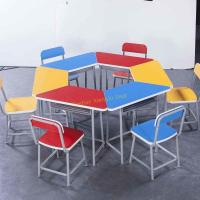 Quality Durable Amusement Colorful Student Desk And Chair Set / Kids School Table for sale