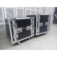 Quality 2U - 24U Black Plywood Shockproof Rack Case With Foam Honeycomb Inside for sale