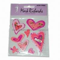 Quality Bubble Heart-shaped Epoxy 3D Stickers, Available in Various Styles for sale