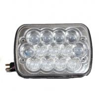 Quality 7'' 5D 45W Square LED Driving Lights High / Low Beam Sliver Housing for sale