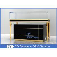 Quality Luxury Black Glass Jewellery Display Cabinet With Logo Customized for sale