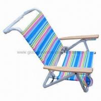 Quality Beach chair/folding chair, adjustable beach chair with wooden handle for sale