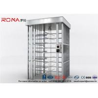 Quality Deluxe Automatic Full Height Turnstile  Pedestrian System Parking Facilities Rotating Gate With 304# Stainless Steel for sale