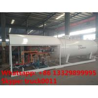 Quality 2017s bottom price CLW brand 10,000L mobile skid lpg gas station, skid lpg gas tank with digital scale for gas cylinder for sale