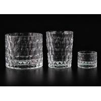 Quality Dimpled Cylindrical Clear set of 3 glass candle holders for Candle Making for sale