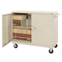 China Swing Door Cabinet-typed Book Cart on sale