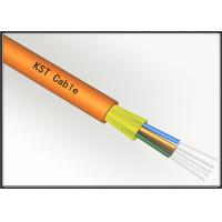 Quality Multimode Direct Burial Fiber Optic Cable , Kevlar Yarn Buffered Fiber Cable for sale
