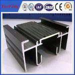 Quality Aluminium sigma profile, black anodizing aluminum extrusion for sales for sale