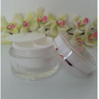 Quality empty 50ml plastic cosmetic double wall jar with dual chamber for sale